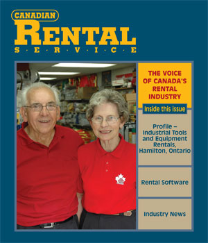 Recent appearance in the Canadian Rental Service magazine
